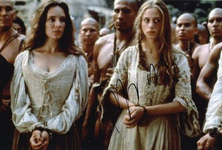 Jodhi May, The Last of the Mohicans, signed 12x8 inch photo.(2)
